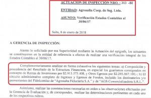 AGROSALTA - INSPECCIÓN ERA PAZO - IRREGULARIDADES REINCIDENTES