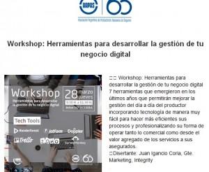 AAPAS - Workshop Herramientas para desarrollar la gestión de tu negocio digital   28-3