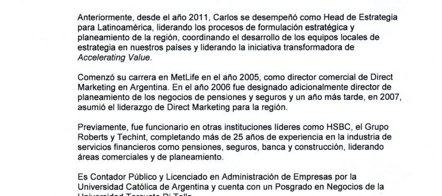 MET LIFE. Presentación y Planes Comerciales en Argentina: productos, servicios, proyectos.
