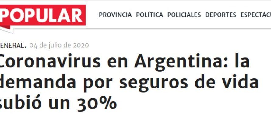 Coronavirus en Argentina: la demanda por seguros de vida subió un 30%