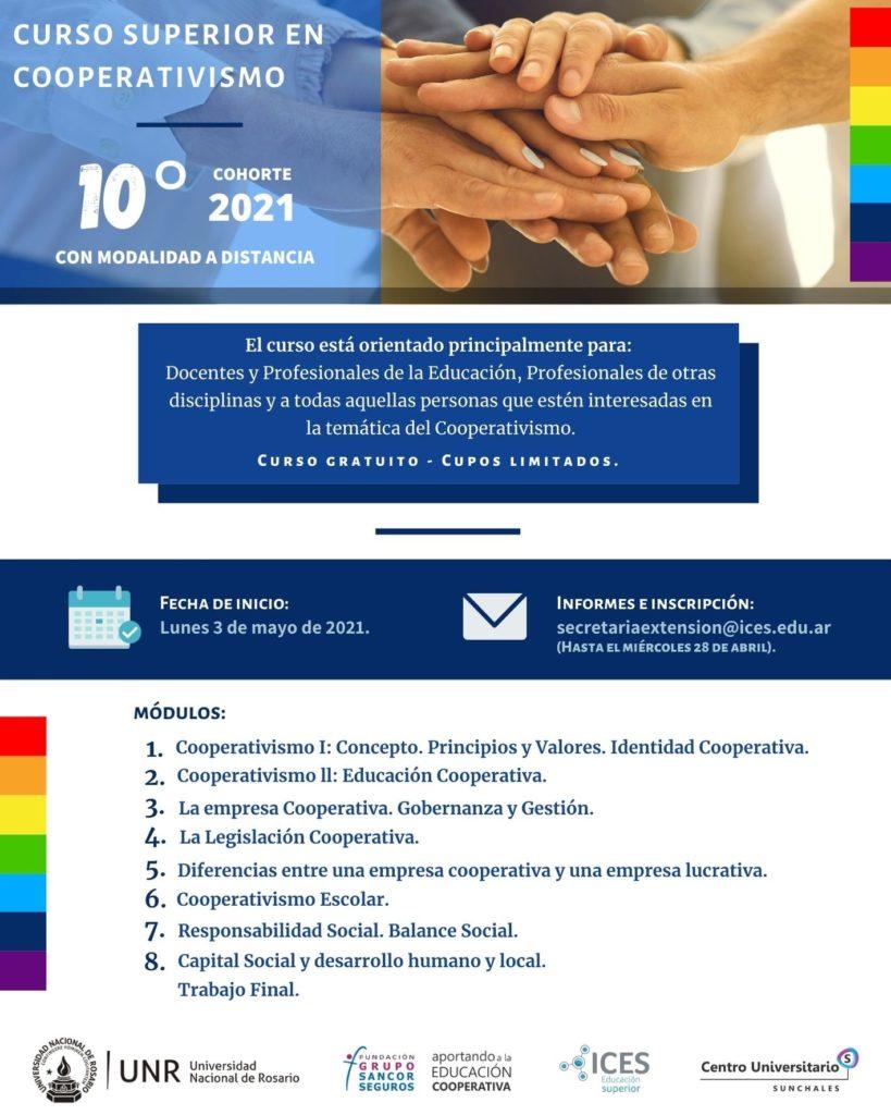 En mayo comienza la edición 2021 del Curso Superior en Cooperativismo con modalidad a distancia