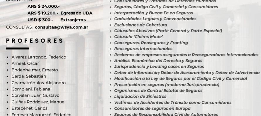 Posgrado de Seguros a través de Zoom, en la Facultad de Derecho de la UBA