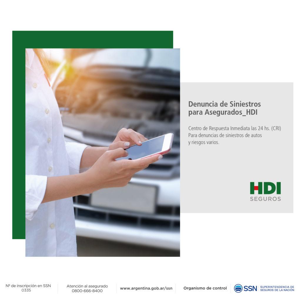 HDI SEGUROS PRESENTA EL SERVICIO DE ATENCIÓN DE SINIESTROS 24 HS
