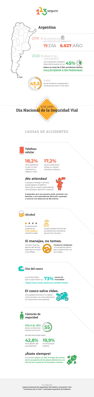 Día de la Seguridad Vial en Argentina: cuáles son las principales causas de accidentes y cómo evitarlas