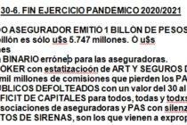 Cierra un balance 100% pandémico: el asegurado exigió, los PAS sostuvieron los contratos, el estado mira ART/AUTOS. Y llegamos al BILLÓN DE PESOS.